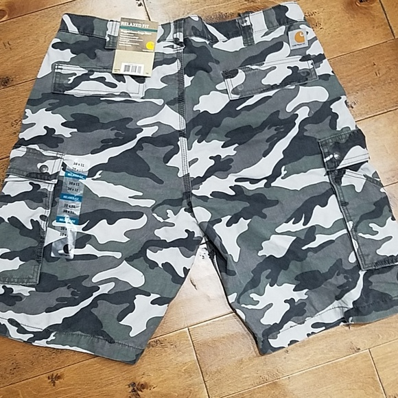 3d462edf35 Carhartt Shorts | Relaxed Fit Rugged Camo Cargo Short | Poshmark